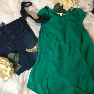 💕FRANCESCAS GREEN HIGH LOW BLOUSE💕